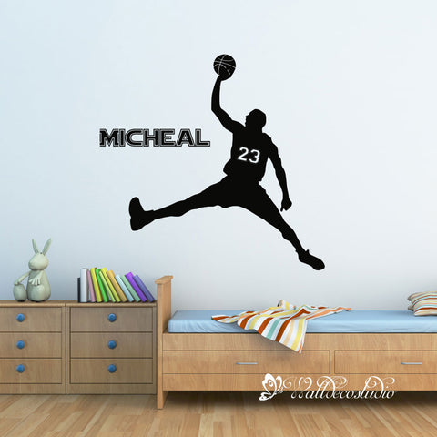 Basketaball Jordan with Custom Name and Jersey No
