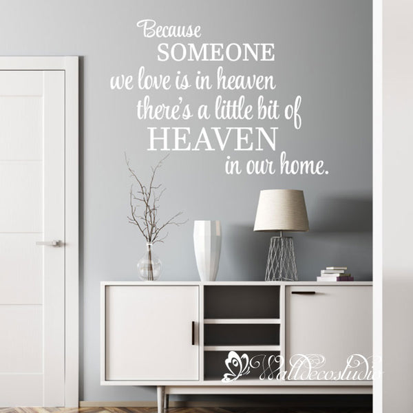 Heaven in Our Home Religious Quote