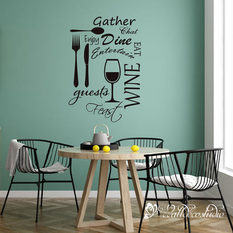 Wine Quote for Dining Room Kitchen