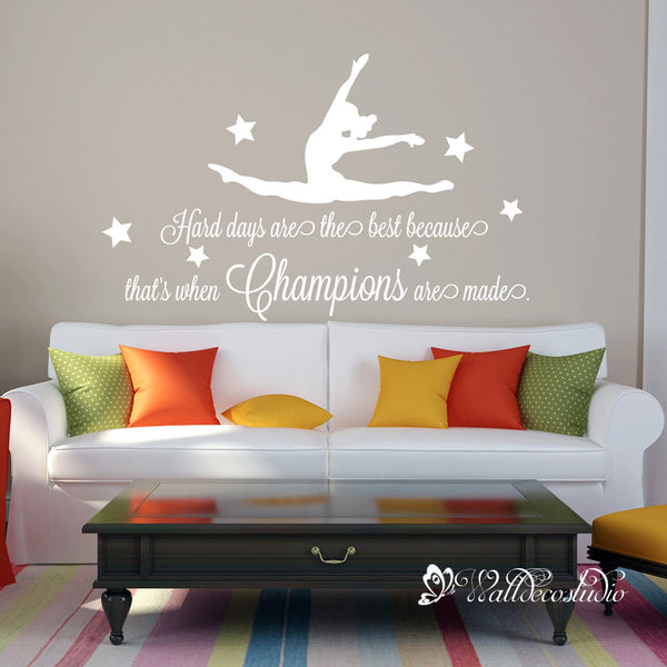 Gymnast Champions Quote