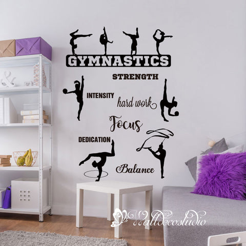 Gymnastic Quote for Girl's Room