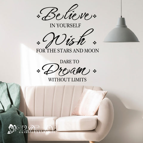 Believe Wish Dream Inspirational Quote