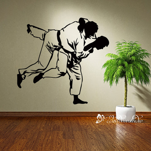 Martial Jitsu Judo Sports Fighting Wall Sticker