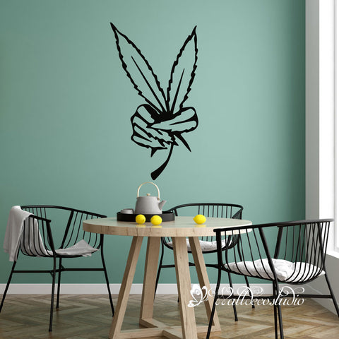 Maple Leaves Victory Wall Sticker