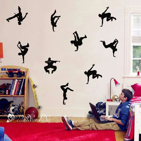 Hip Pop Dancer Street Dance Wall Sticker