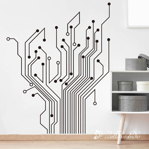 Circuit Tree Version 2.0 Greek Wall Sticker