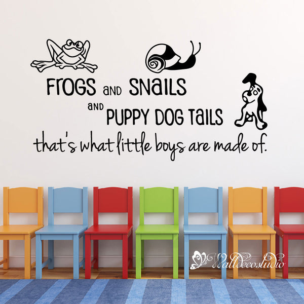 Frog Snail Puppy Quote