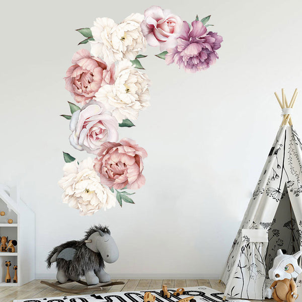 Peony Flowers and Camellia Wall Sticker