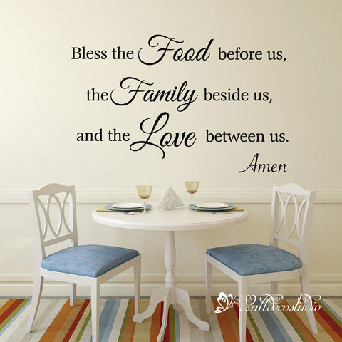 Bible Verse Quote Bless the Food Before Us