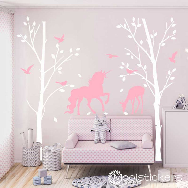 Trees with Unicorn and Deer