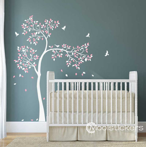 Nursery Tree with Birds