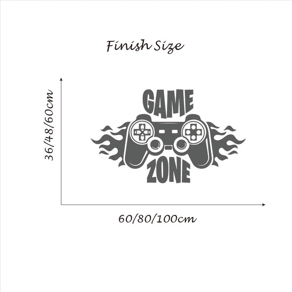 Game Zone Gamer Wall Sticker