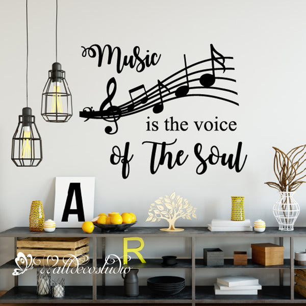 Music Is the Voice of the Soul Music Note Sticker