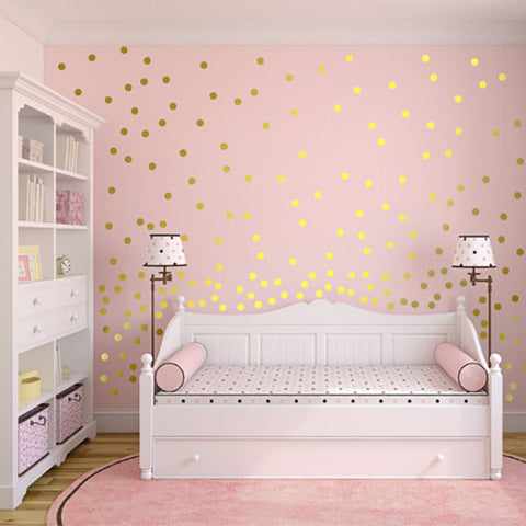 Gold Polka Dots Wall Sticker