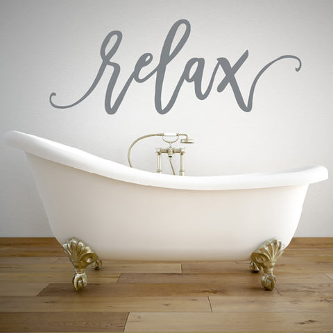 Relax Bathroom Wall Sticker