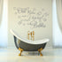 Chill Relax Unwind Bubbles Quote Wall Sticker