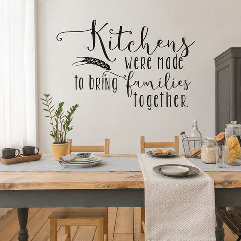 Kitchens Were Made to Bring Famies Together