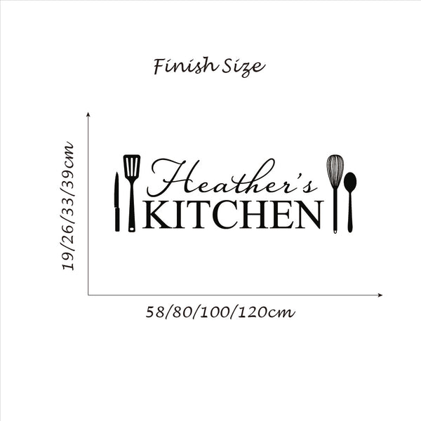Personalized Name Kitchen Sticker