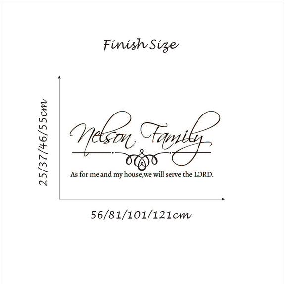 Custom Family Name-We Will Serve the Lord