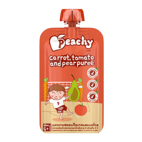 Peachy Baby Food - Carrot, Tomato and Pear Puree