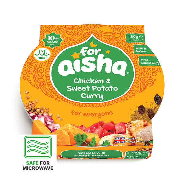 For Aisha Toddler Tray Meals - Chicken & Sweet Potato Curry