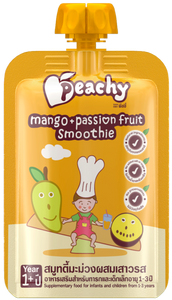 Peachy Baby Puree Mango & Passion Fruit Smoothie Box (7 Pouches)