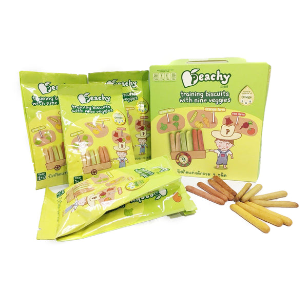 Peachy Training Biscuits with Nine Veggies Box (6 Bundles)