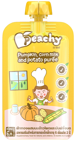 Peachy Baby Puree Pumpkin Corn Milk & Potato Box (7 Pouches)