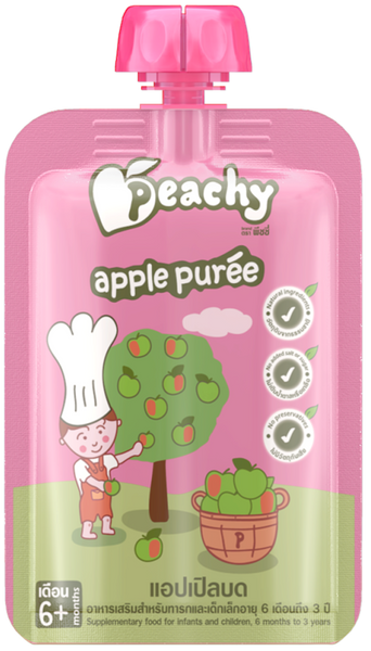 Peachy Baby Food - Apple Puree Box (7 Pouches)