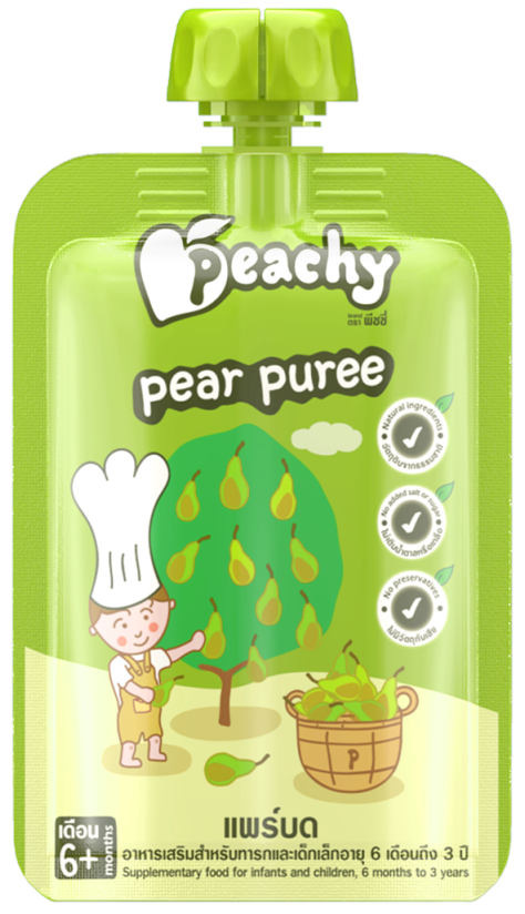 Peachy Baby Puree Pear Box (7 Pouches)