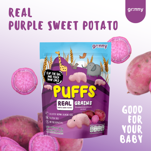 Grinny Baby Rice Puff - Purple Sweet Potato