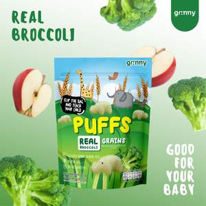 Grinny Baby Rice Puff - Broccoli & Apple