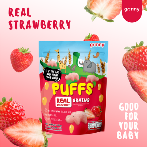 Grinny Baby Rice Puff - Strawberry