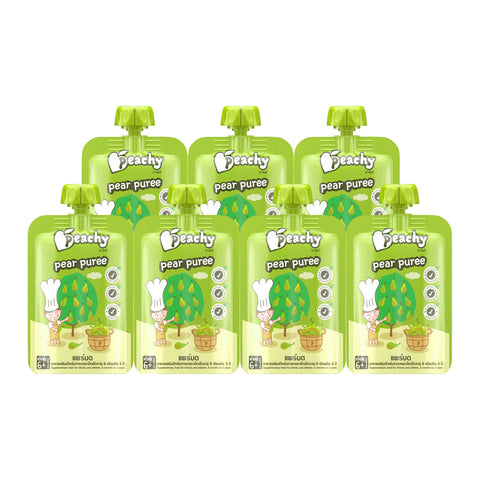 Peachy Baby Food - Pear Puree Box (7 Pouches)