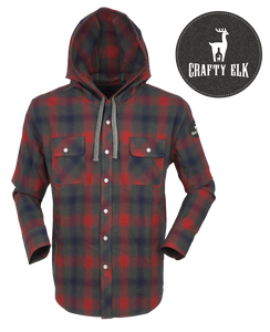 Crafty Elk Universal Plaid Dress Shirt - Red
