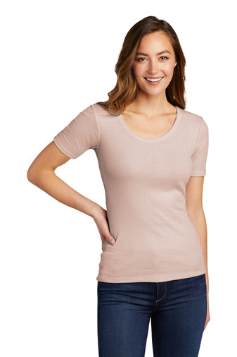 District® Women's V.I.T.™ Rib Scoop Neck Tee