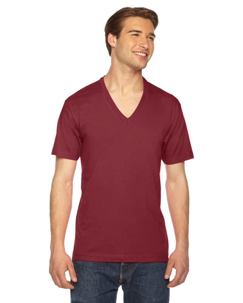 American Apparel 2456w Fine Jersey V-Neck T-Shirt