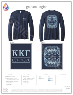 Copy of Kappa Kappa Gamma Initiation - Navy $29.95
