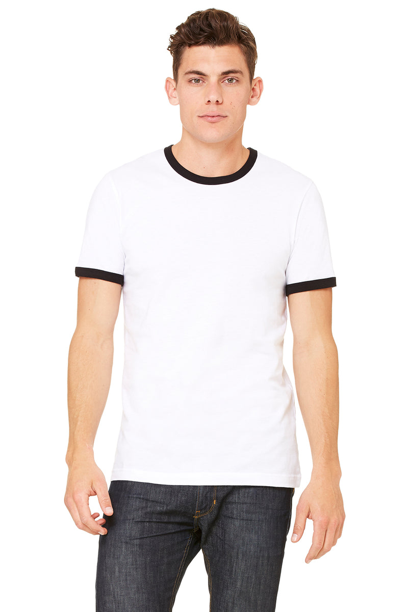Bella + Canvas 3055 Men's Jersey Short Sleeve Ringer Tee