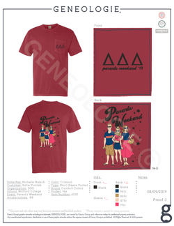 Delta Delta Delta Parent's Weekend $18.25
