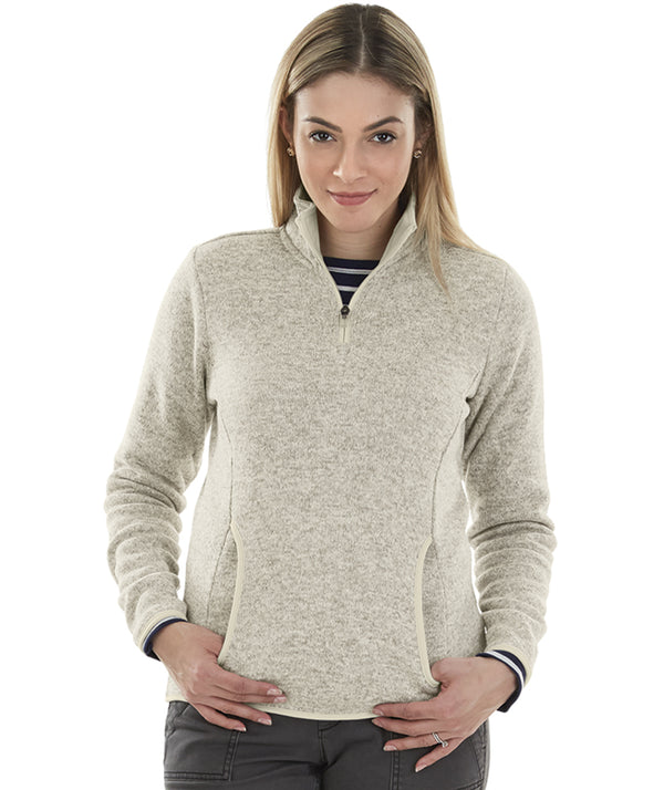 Charles River Apparel 5312 Women's Heathered Fleece Pullover