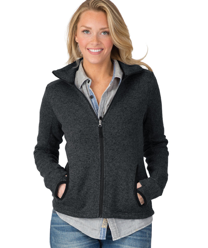 Charles River Women's Heathered Fleece Jacket