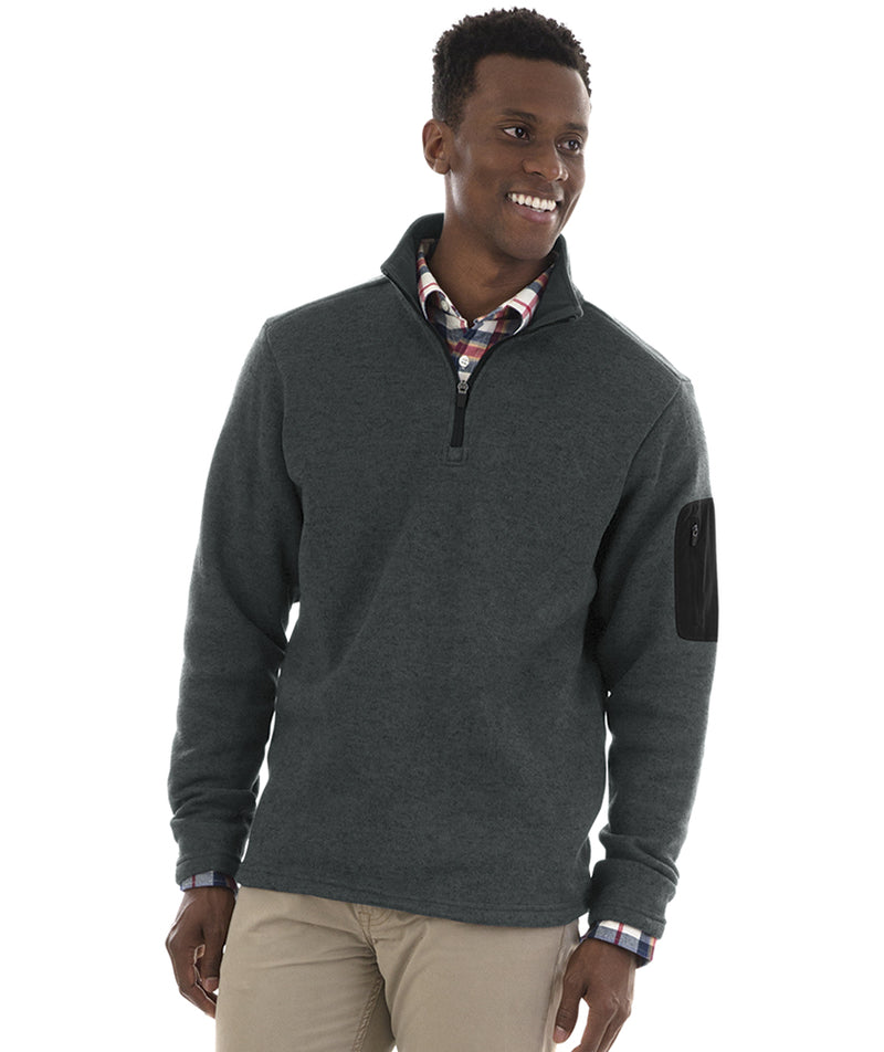 Charles River Men's Heathered Fleece Pullover