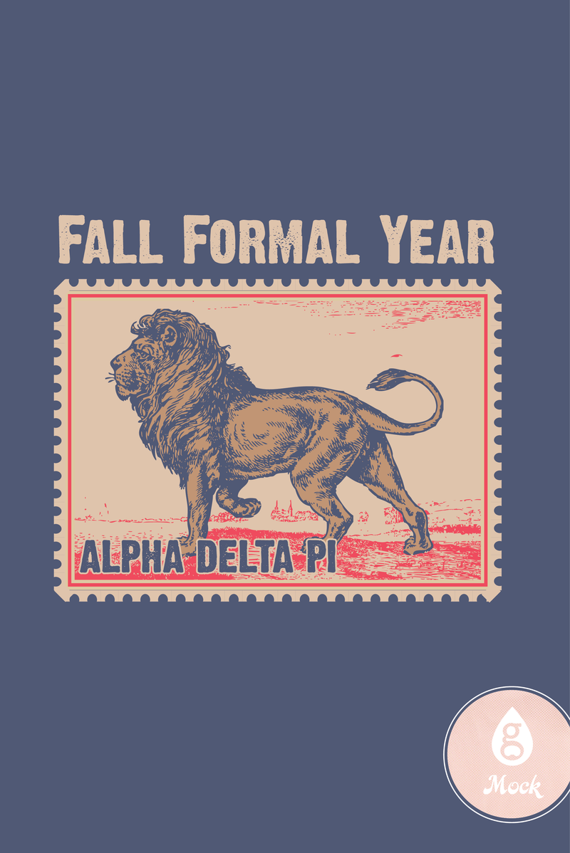 Alpha Delta Pi Formal LionStamp