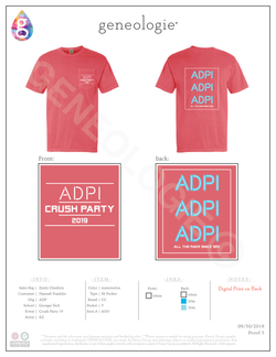 Alpha Delta Pi Crush Party 2019 - Watermelon $17.50