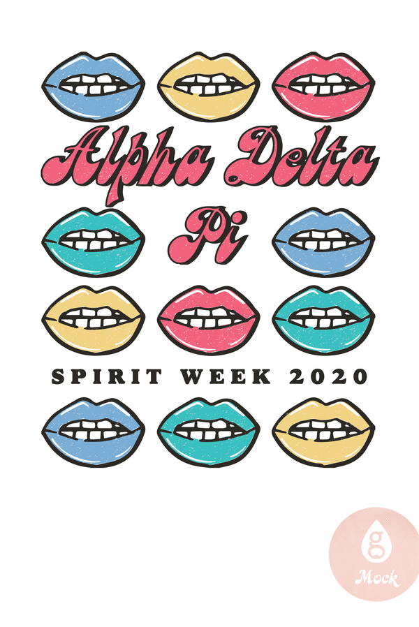 Alpha Delta Pi Spirit Week Lips BD422