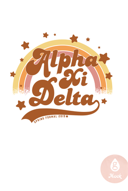 Alpha Xi Delta Retro Rainbow