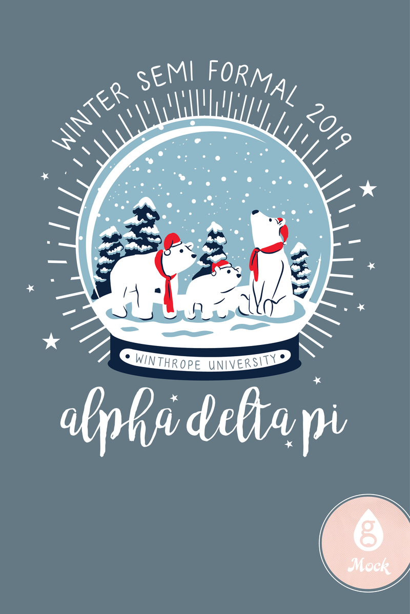 Alpha Delta Pi Winter Formal Snowglobe