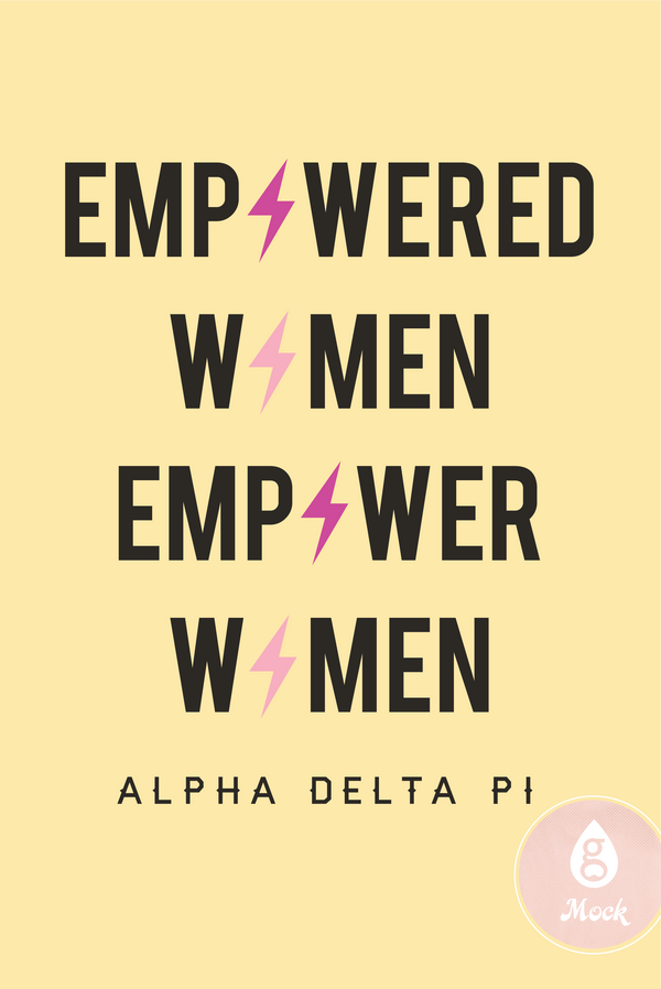 Alpha Delta Pi Women's Day Lightning Bolts