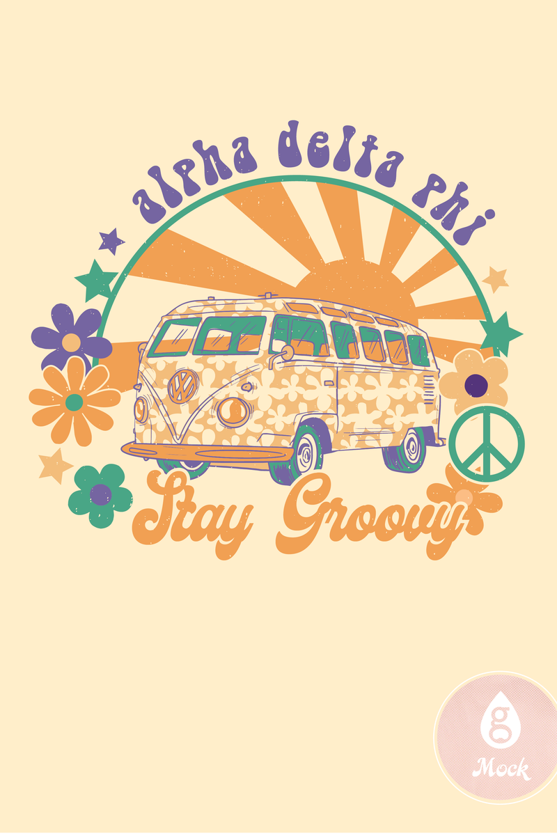 Alpha Delta Pi Stay Groovy Bus